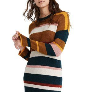 NWT Drop Shoulder Color Block Sweater Dress-XS